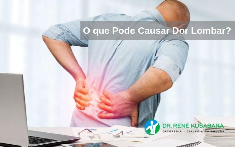 Tronco do dor longo nas costas